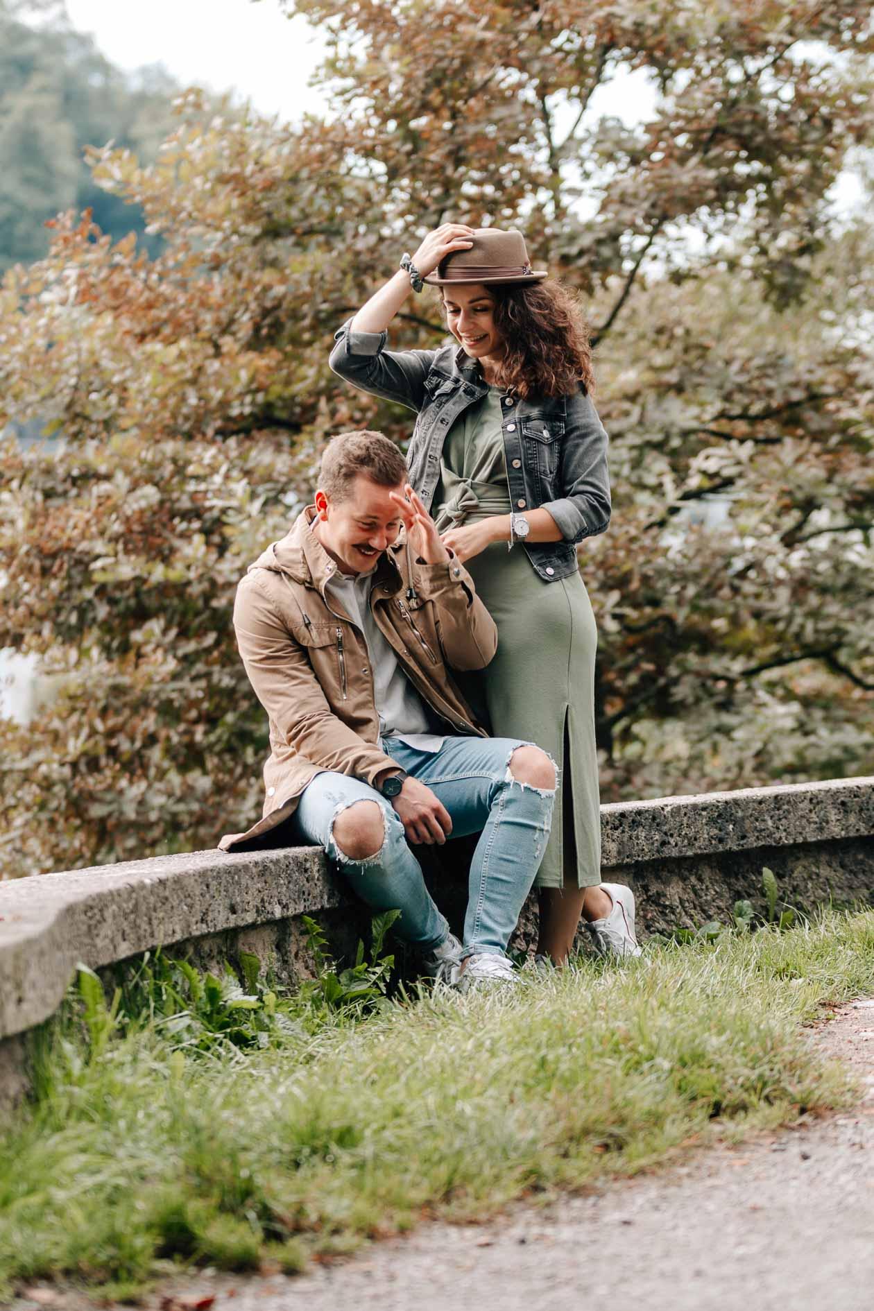 Paarbilder | Fotos Freund und Freundin | in der Natur | Wassserburg am Inn